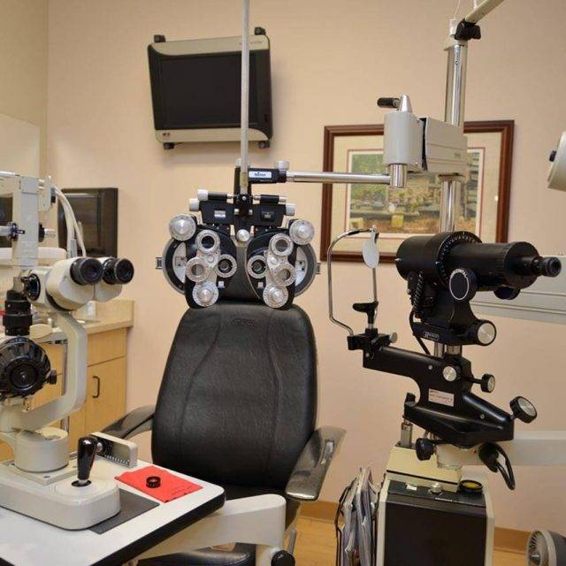 eye doctor's exam room